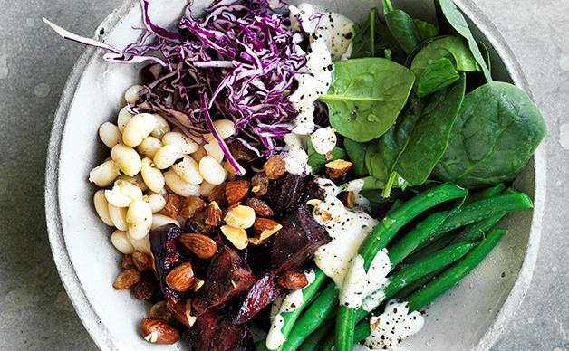 Cannellini bean and beetroot salad
