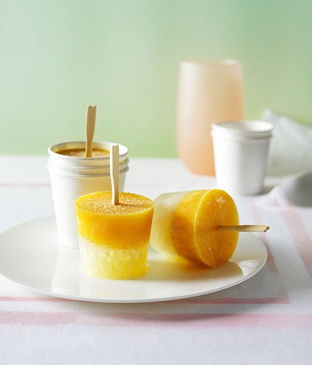 **Lemonade and passionfruit icy poles**