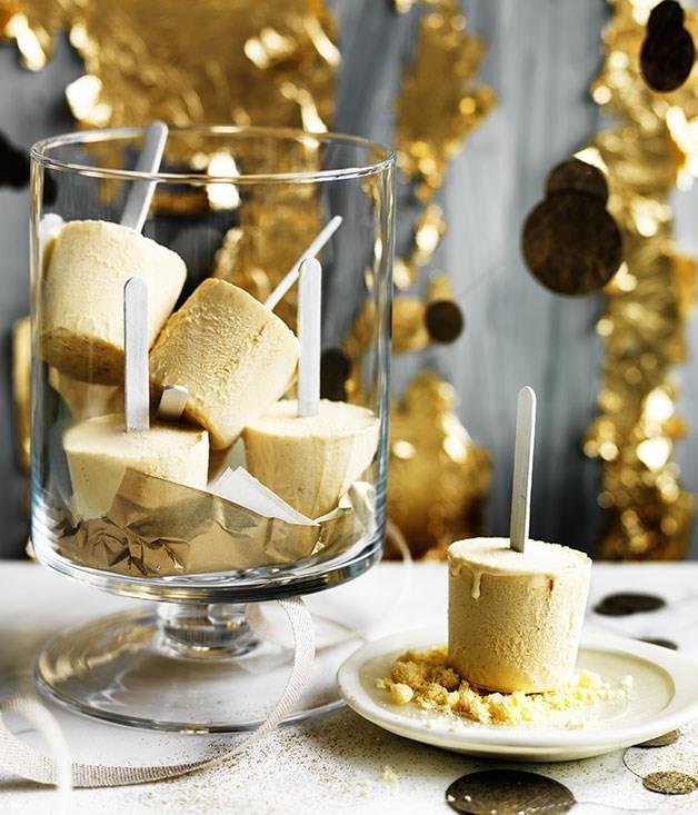 **Eggnog ice-pops with milk crumb**
