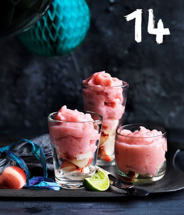 **Peach and gin slushie**
