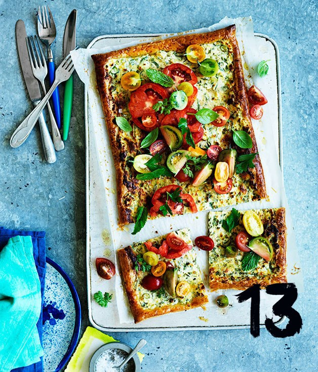 **Tomato and ricotta tart**