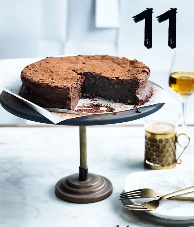 **Flourless chocolate, hazelnut and buttermilk cake**