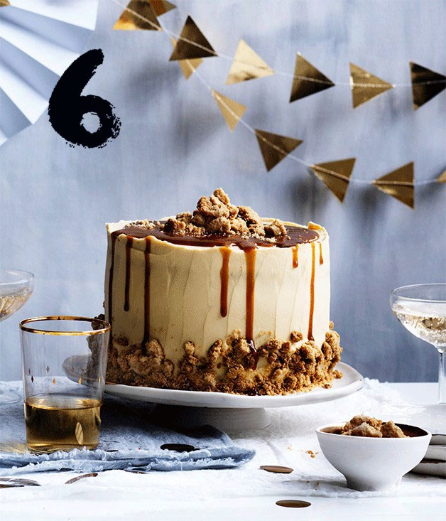 **Salted caramel layer cake**