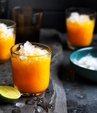 Mango, turmeric and ginger-lime nectar