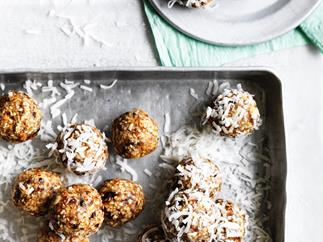 Salted maple-almond balls