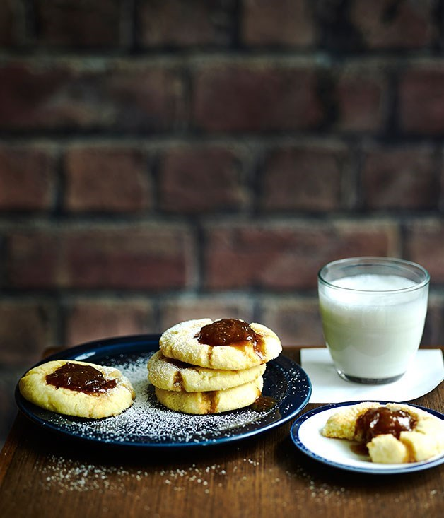 "[**Spiced fig jam drops**](https://www.gourmettraveller.com.au/recipes/browse-all/spiced-fig-jam-drops-11951|target=""_blank"")"