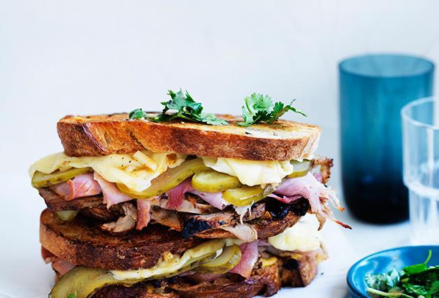 Cuban mojo grilled pork sandwiches