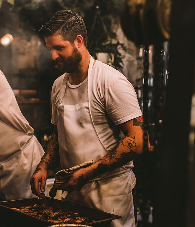 **Luke Powell** And then it's sraight back to the kitchen for LP Quality Meats chef Luke Powell, who served smoked lamb stuffed with sujuk sausage.