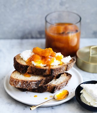 Apricot and orange-blossom jam
