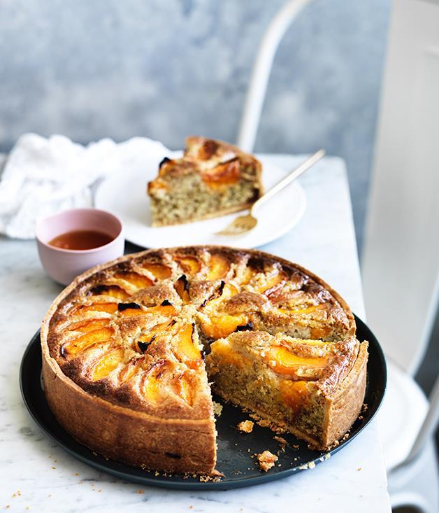 "**[Apricot frangipane tart](https://www.gourmettraveller.com.au/recipes/browse-all/apricot-frangipane-tart-12728|target=""_blank"")**"