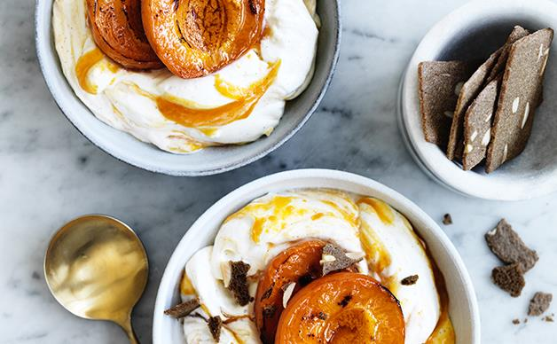 Roast apricot and vanilla fool