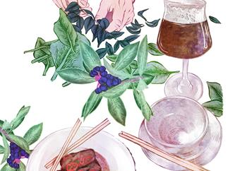 Brewing beer with native herbs