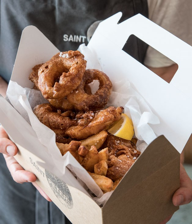 Saint Peter's salt and vinegar onion rings