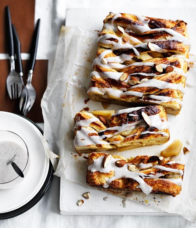 "[**Caramelised apple danish with cardamom icing**](https://www.gourmettraveller.com.au/recipes/browse-all/caramelised-apple-danish-with-cardamom-icing-12028|target=""_blank"")"