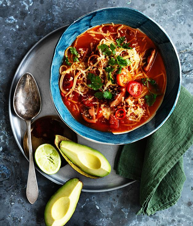 "**[Sopa de fideos](https://www.gourmettraveller.com.au/recipes/browse-all/sopa-de-fideos-12749|target=""_blank"")**"