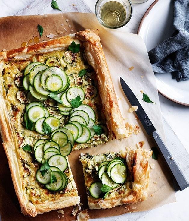 **Zucchini and gruyère galette**