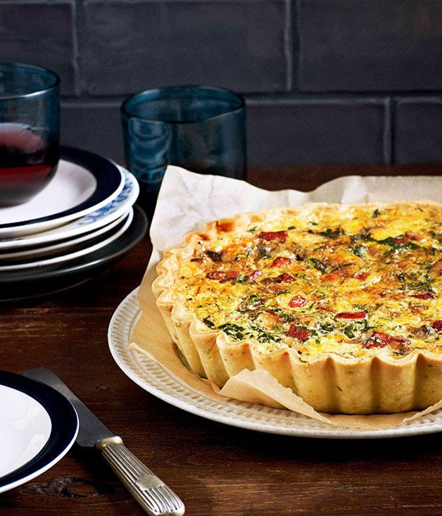 **Bacon and stilton tart**