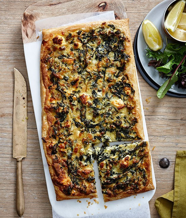 **Leek, swiss chard and feta tart**