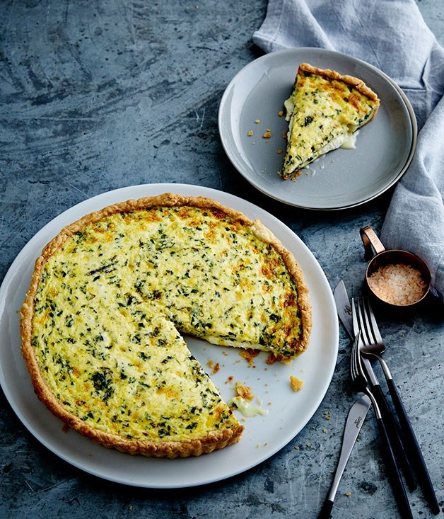 **Goat's cheese and herb quiche**