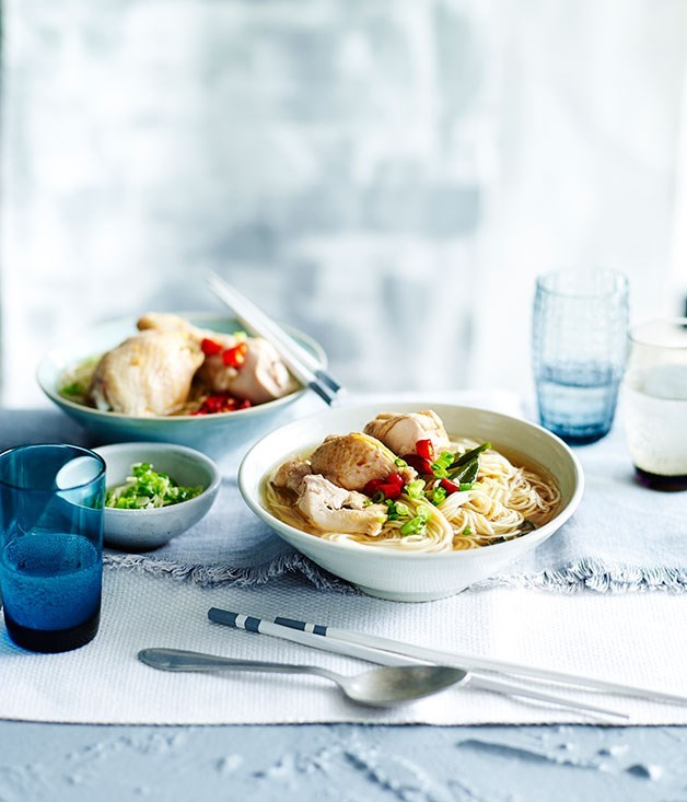 "[**Drunken chicken with shandong ramen noodles**](https://www.gourmettraveller.com.au/recipes/fast-recipes/drunken-chicken-with-shandong-ramen-noodles-13470|target=""_blank"")"