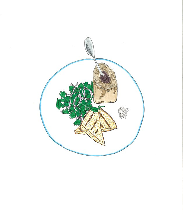**2008** Fergus Henderson's roast bone marrow and parsley salad.