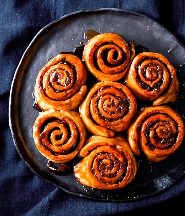 "**[Chocolate scrolls](http://www.gourmettraveller.com.au/recipes/browse-all/chocolate-scrolls-recipe-12745 target=""_blank"")**"