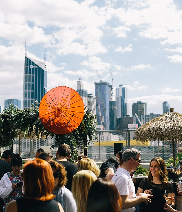 **Melbourne sunshine** It was a sunny afternoon as the World's 50 Best chefs, restaurateurs, sommeliers and more arrived for the All-Star Yum Cha at QT Melbourne's rooftop terrace.
