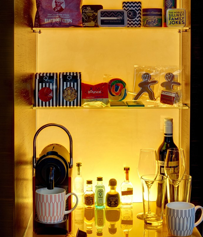 **BEST MINIBAR** <br> They're so often treated as an afterthought, so it's a relief to check into a room and find a minibar that's been assembled with care and attention to detail. Locally produced beers, wines, spirits and snacks are always a great start - they give guests a taste of the place they've come to visit. Even better, of course, when the contents are on the house. <br><br> **FINALISTS** <br> **Como The Treasury**, *1 Cathedral Avenue, Perth, WA, [comohotels.com/thetreasury](http://www.comohotels.com/thetreasury)* <br> **Ovolo Woolloomooloo**, *6 Cowper Wharf, Sydney, NSW, [ovolohotels.com.au/ovolowoolloomooloo](http://www.ovolohotels.com.au/ovolowoolloomooloo/location/)* <br> **QT Hotels & Resorts (pictured)**, *[qthotelsandresorts.com](https://www.qthotelsandresorts.com/)*