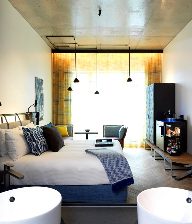 **NEW HOTEL OF THE YEAR** <br> Thanks to the current boom in Australian hotel building, we've been spoilt for choice when it comes to naming the *2017 Gourmet Traveller Australian Hotel Guide*'s New Hotel of the Year. This year's guide features a handful of properties making a dazzling début on the Australian accommodation scene. <br><br> **FINALISTS** **Jackalope**, *166 Balnarring Road, Mornington Peninsula, Vic, [jackalopehotels.com](http://www.jackalopehotels.com/)* **The Johnson**   477 Boundary Street, Brisbane, QLD, [artserieshotels.com.au/johnson](http://www.artserieshotels.com.au/johnson/)* **QT Melbourne (pictured)**, *133 Russell Street, Melbourne, Vic, [qtmelbourne.com](http://www.qtmelbourne.com)*