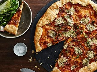 Fred's Pumpkin galette with blue cheese and thyme recipe