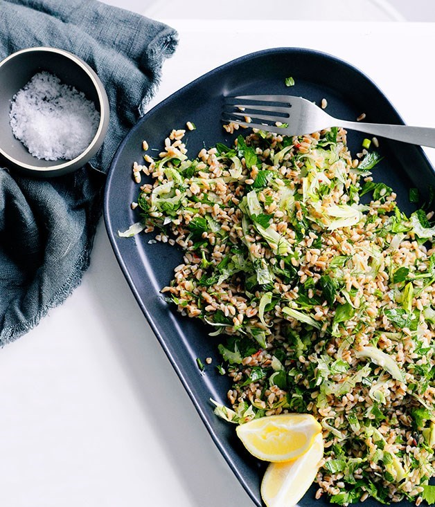 "[**Farro and fennel salad**](https://www.gourmettraveller.com.au/recipes/fast-recipes/farro-and-fennel-salad-13256|target=""_blank"")"