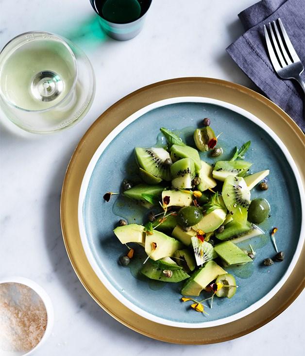 Avocado and kiwi salad Beau Clugston