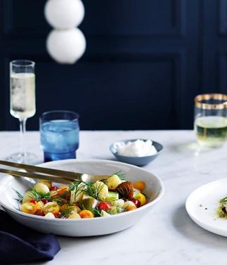 Potato salad and horseradish cream recipe