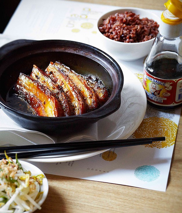 "[**Dandelion's pork belly simmered in claypot with black pepper caramel**](https://www.gourmettraveller.com.au/recipes/chefs-recipes/dandelion-pork-belly-simmered-in-claypot-with-black-pepper-caramel-7673|target=""_blank"")"