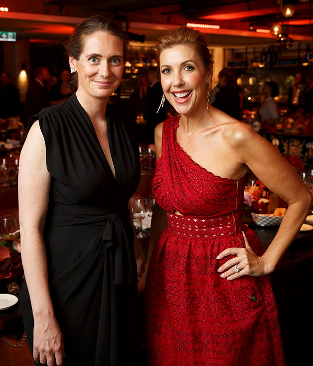 **Sarah Oakes and Catriona Rowntree** _Gourmet Traveller_ editor Sarah Oakes; awards MC and television presenter Catriona Rowntree.  Photograph by Marcel Aucar.