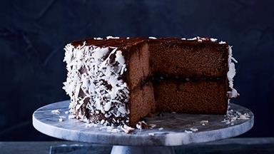 Chocolate lamington cake