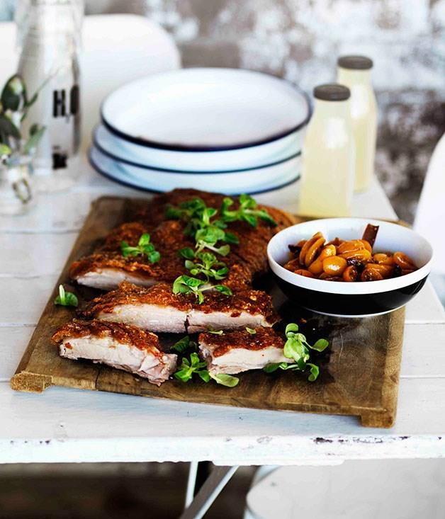 "[**Roast confit pork belly with cumquat relish**](https://www.gourmettraveller.com.au/recipes/browse-all/roast-confit-pork-belly-with-cumquat-relish-11272|target=""_blank"")"