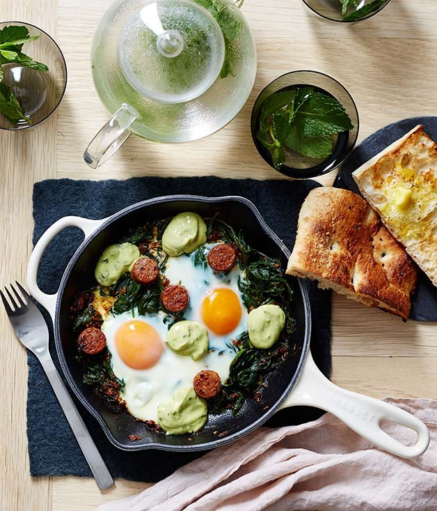 Naïm's green shakshuka recipe