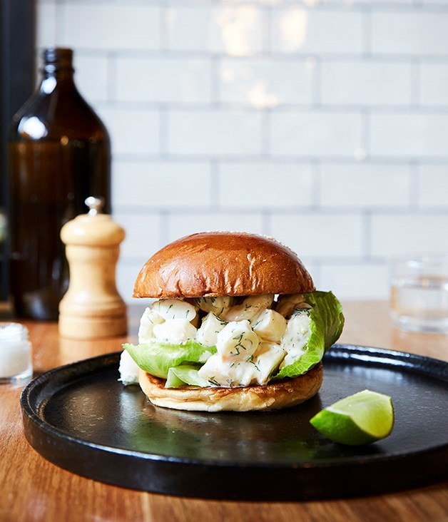 **Brioche with king prawns** **Top Paddock, Melbourne**  The whole lunch-for-breakfast thing is a trend we're mighty happy about, nowehere more so than at this Richmond café where a light and buttery brioche roll is warmed and crammed with Queensland king prawns, iceberg lettuce, and a dill and lime aïoli. As a bonus, occasionally you'll see Melbourne's finest croissants subbed in for the bun, all thanks to Top Paddock being among a select group of venues getting the royal seal of approval from Lune Croissanterie's Kate Reid. _Top Paddock, 658 Church St, Richmond, Vic (03) 9429 4332_