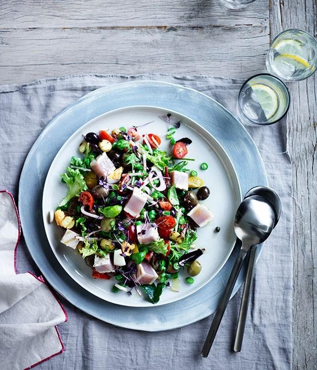 **Nicoise salad with albacore tuna**