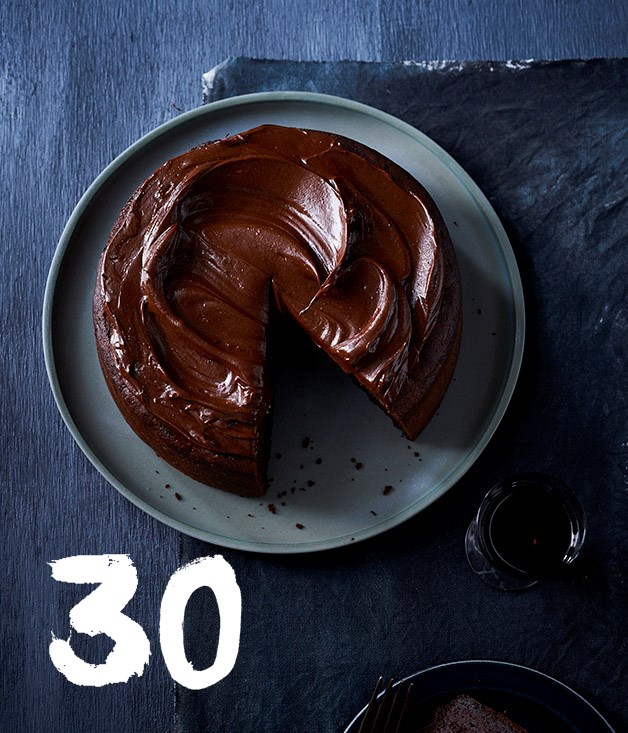 "[**Chocolate cake with fudge icing**](https://www.gourmettraveller.com.au/recipes/browse-all/chocolate-cake-with-fudge-icing-12755|target=""_blank"") <br><br> If you love chocolate, this cake is for you - it's rich, dense and fudgy. We love to serve it with a glass of Pedro Ximénez as a seriously luxe dessert, but it's also lovely for morning tea, lightened up with a dollop of whipped cream or crème fraîche and seasonal fruit."