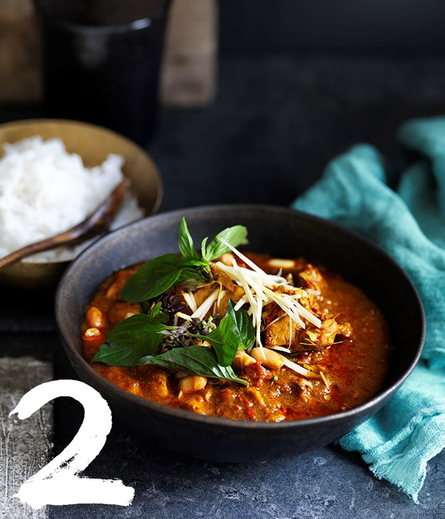 "[**Chiang Mai chicken curry**](https://www.gourmettraveller.com.au/recipes/browse-all/chiang-mai-chicken-curry-12708|target=""_blank"") <br><br> This northern Thai-style Chiang Mai curry is flavoured with ginger as well as turmeric. It's slightly sour and deliciously light."