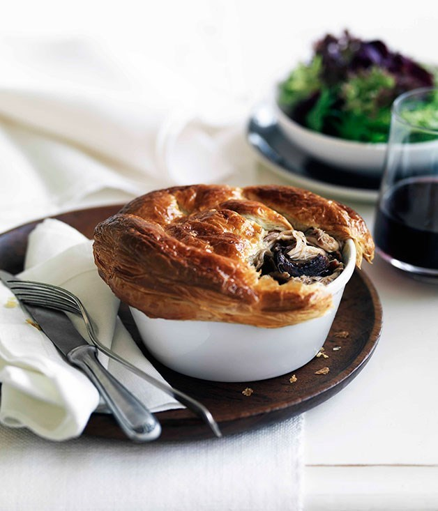 **Rabbit and wild mushroom pies**