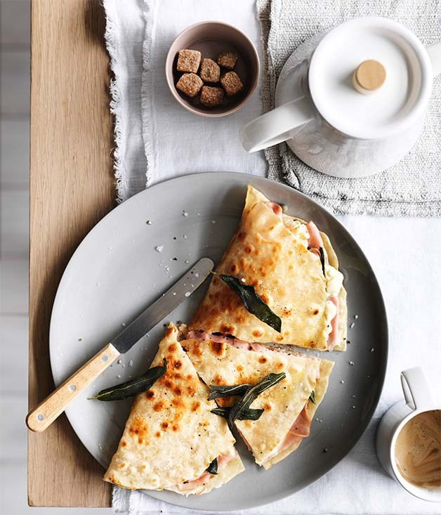 Mortadella breakfast sandwich recipe