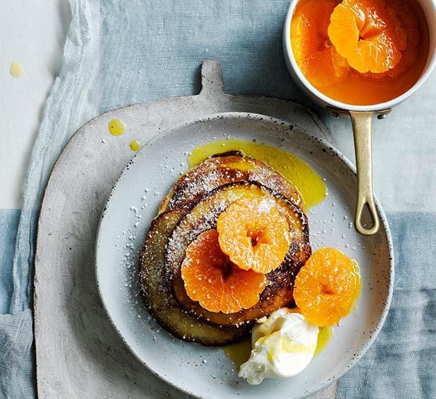 Sour cream pancakes with Suzette sauce recipe
