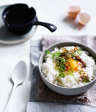 Egg and rice bowls recipe