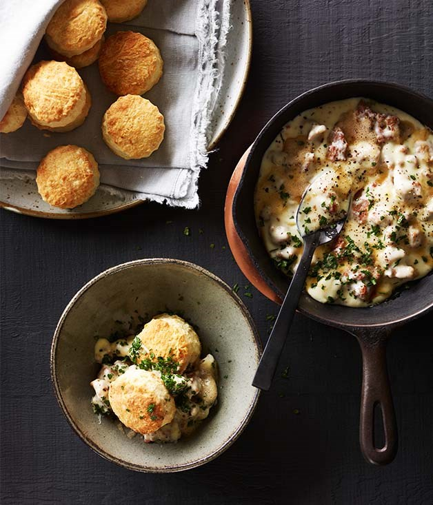 Southern-style biscuits with sawmill gravy recipe