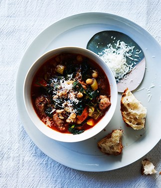 Sausage, cavolo nero and chickpea minestrone