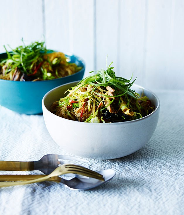 "[Roast duck, Brussels sprouts and noodles](http://www.gourmettraveller.com.au/recipes/fast-recipes/roast-duck-brussels-sprouts-and-noodles-13822|target=""_blank"")"