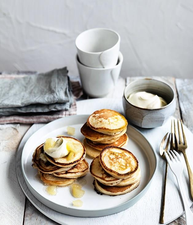 "[**Pikelets with pear jam**](https://www.gourmettraveller.com.au/recipes/fast-recipes/pikelets-with-pear-jam-13809|target=""_blank"") A great vegetarian breakfast, snack or dessert, these crowd-pleasers always go down a treat."